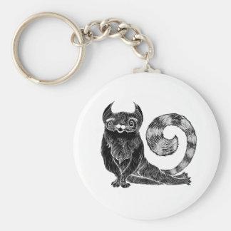 Extravagante Katze Standard Runder Schlüsselanhänger