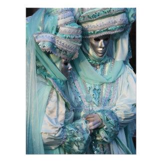 Extravagante Kleiderpaar-Kostüme Photodrucke