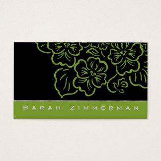 Extravagante Limone grüne Geschäfts-mit Visitenkarte