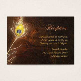 Extravagante Pfau-Feder-Empfangs-Einschließung Visitenkarte