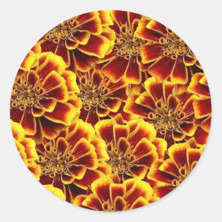 Extravagante Ringelblumen DOD-Aufkleber Runder Aufkleber