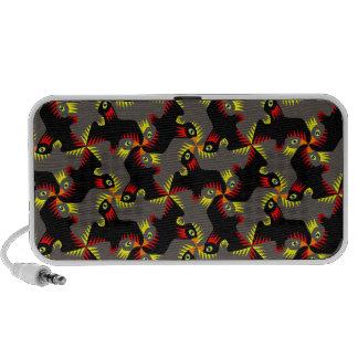 Extravagante schwarze Fliegen-Vögel iPhone Speaker