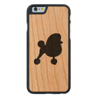 Extravagante Spielzeug-Pudel-Silhouette Carved® iPhone 6 Hülle Kirsche