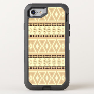 extravagante Stammes- Musterbeige (i) OtterBox Defender iPhone 8/7 Hülle