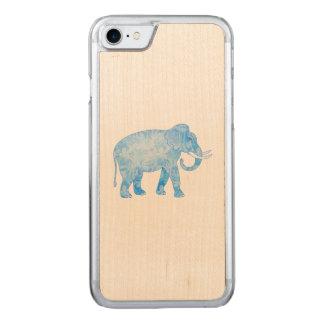 Extravaganter blauer gemusterter Elefant Carved iPhone 8/7 Hülle