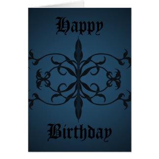 Extravaganter blauer gotischer zu personifizieren grußkarte