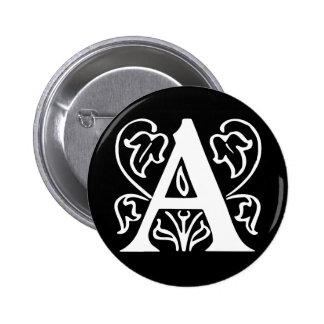 Extravaganter Buchstabe A Runder Button 5,1 Cm
