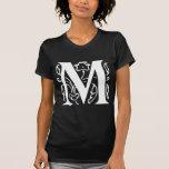 Extravaganter Buchstabe M T Shirt