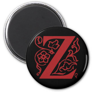 Extravaganter Buchstabe Z Runder Magnet 5,1 Cm
