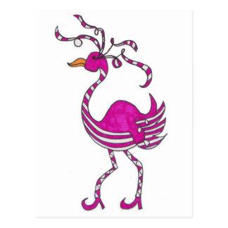 Extravaganter Flamingo Postkarten