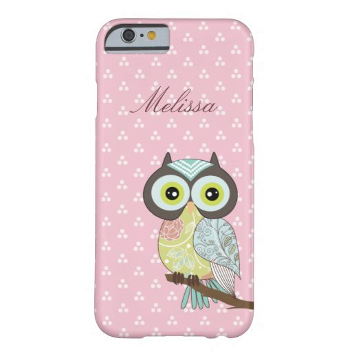 Extravaganter Funky rosa Eule iPhone 6 Fall Barely There iPhone 6 Hülle