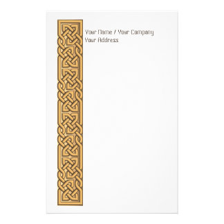 Extravaganter gefüllter Celtic knotet blasses Gold Individuelles Druckpapier