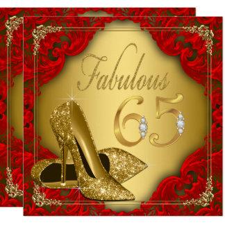 Extravaganter roter Goldhohe Fersen-fabelhafter Karte