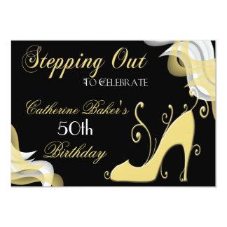 Extravaganter Schuh-50. Geburtstags-Party 12,7 X 17,8 Cm Einladungskarte