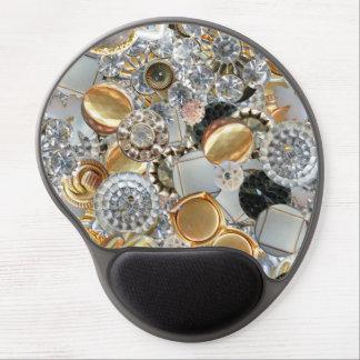 Extravagantes Bling knöpft Collage Gel Mousepad