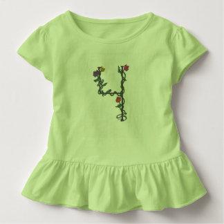 Extravagantes die Rüsche-T-Stück des vierten Kleinkind T-shirt