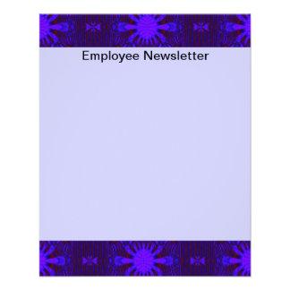 Extravagantes dunkles lila blaues abstraktes flyer