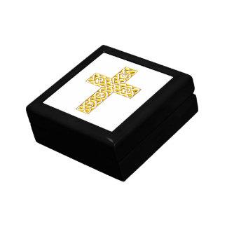 Extravagantes goldenes Kreuz Geschenkbox
