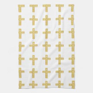 Extravagantes goldenes Kreuz Handtuch