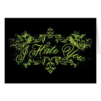 Extravagantes Grün hasse ich Sie Grußkarte