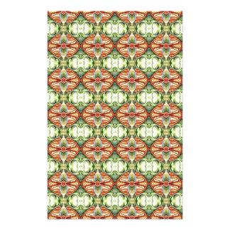 Extravagantes Grün und kugelförmiges Muster TANs Personalisiertes Druckpapier