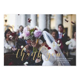 Extravagantes Hochzeits-Foto danken Ihnen zu Karte