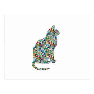 EXTRAVAGANTES Juwel n entsteint verzierten CAT - Postkarte