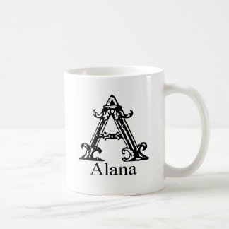 Extravagantes Monogramm: Alana Kaffeetasse