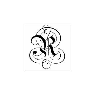 """Extravagantes Monogramm des Buchstabe-""""R"""" Gummistempel"""