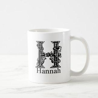 Extravagantes Monogramm: Hannah Kaffeetasse