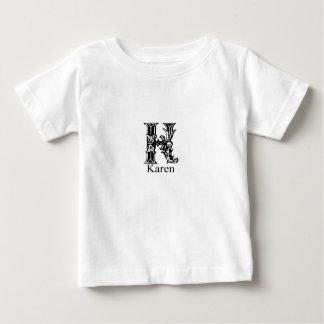 Extravagantes Monogramm: Karen Baby T-shirt