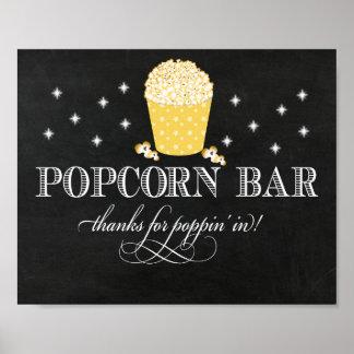 Extravagantes Popcorn-Bar-Zeichen - Dank für Poster