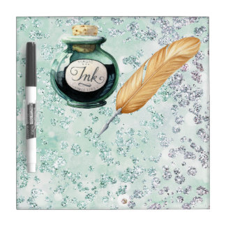 Extravagantes Schreibens-Goldfeder-Stift-Grün Memoboard
