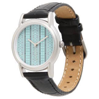 Extravagantes Stammes- Grenzmuster Armbanduhr