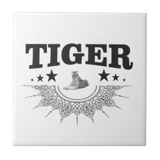 extravagantes Tigerlogo Keramikfliese