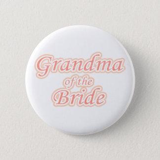 Extravaganz-Großmutter der Braut Runder Button 5,1 Cm