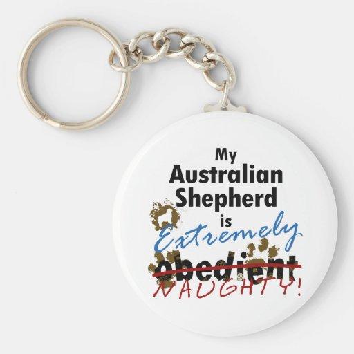 Extrem frecher australischer Schäfer Schlüsselanhänger