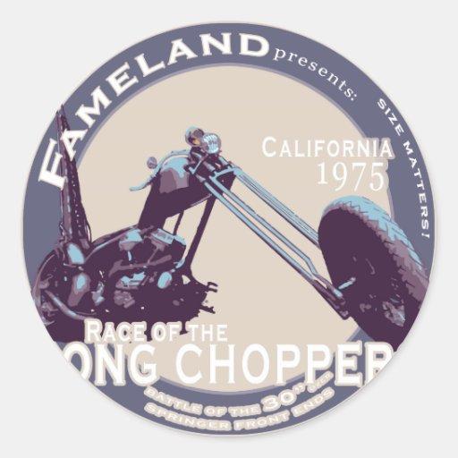 Extrem lang Vintages CHOPPER Motorrad Runder Aufkleber