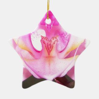 Extrem nah oben vom Innere einer Orchideen-Blume Keramik Ornament