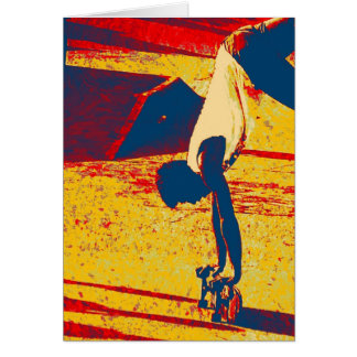 Extrem-Sport-Freistil-Skateboard-Trick Karte