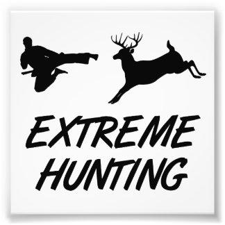 Extreme Jagd-Karate-Tritt-Rotwild Kunst Fotos