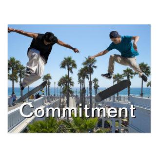 Extreme Skateboarding Verpflichtungs-Karte Postkarte