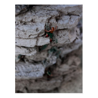 Extremer Bergsteiger Postkarte