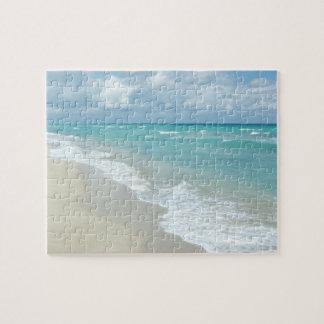 Extremer Entspannungs-Strand-Ansicht-Weiß-Sand Foto Puzzles