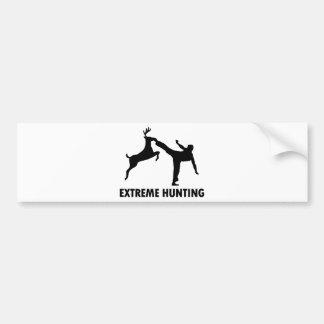 Extremer Jagd-Rotwild-Karate-Tritt Autoaufkleber