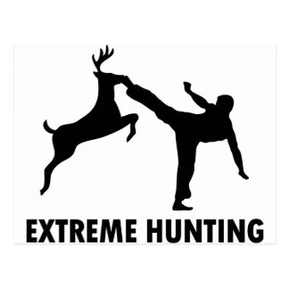 Extremer Jagd-Rotwild-Karate-Tritt Postkarte