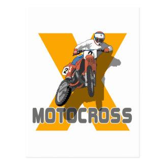Extremer Motocross Postkarte