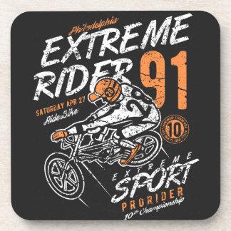 Extremer Reiter-Proreiter BMX Getränkeuntersetzer