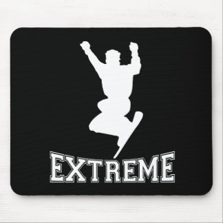 EXTREMER Snowboard 2 (Weiß) Mousepad