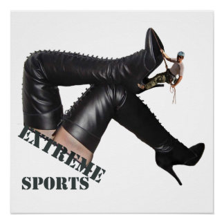 Extremer Sport - STIEFEL Klettern Perfektes Poster